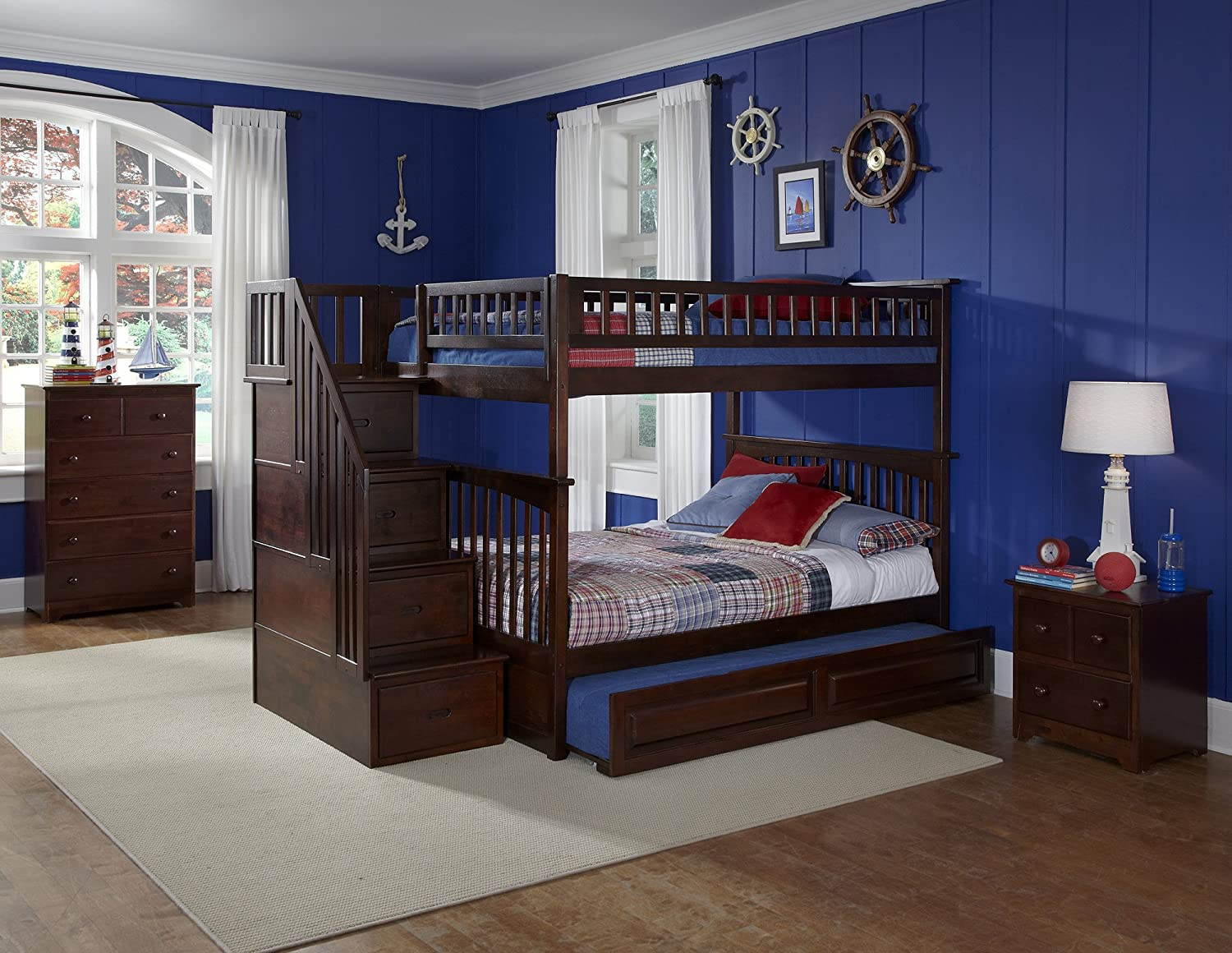 beds design by height item products trim full threshold bunk hallytowntwin twin width signature solid ashley pine hallytown bed