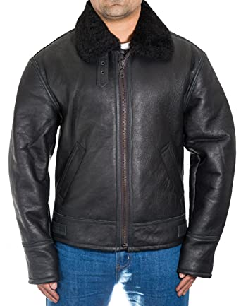 0a6109b1a Mens B3 Luxury Soft Thick Sheepskin Flying Aviator Winter Bomber ...