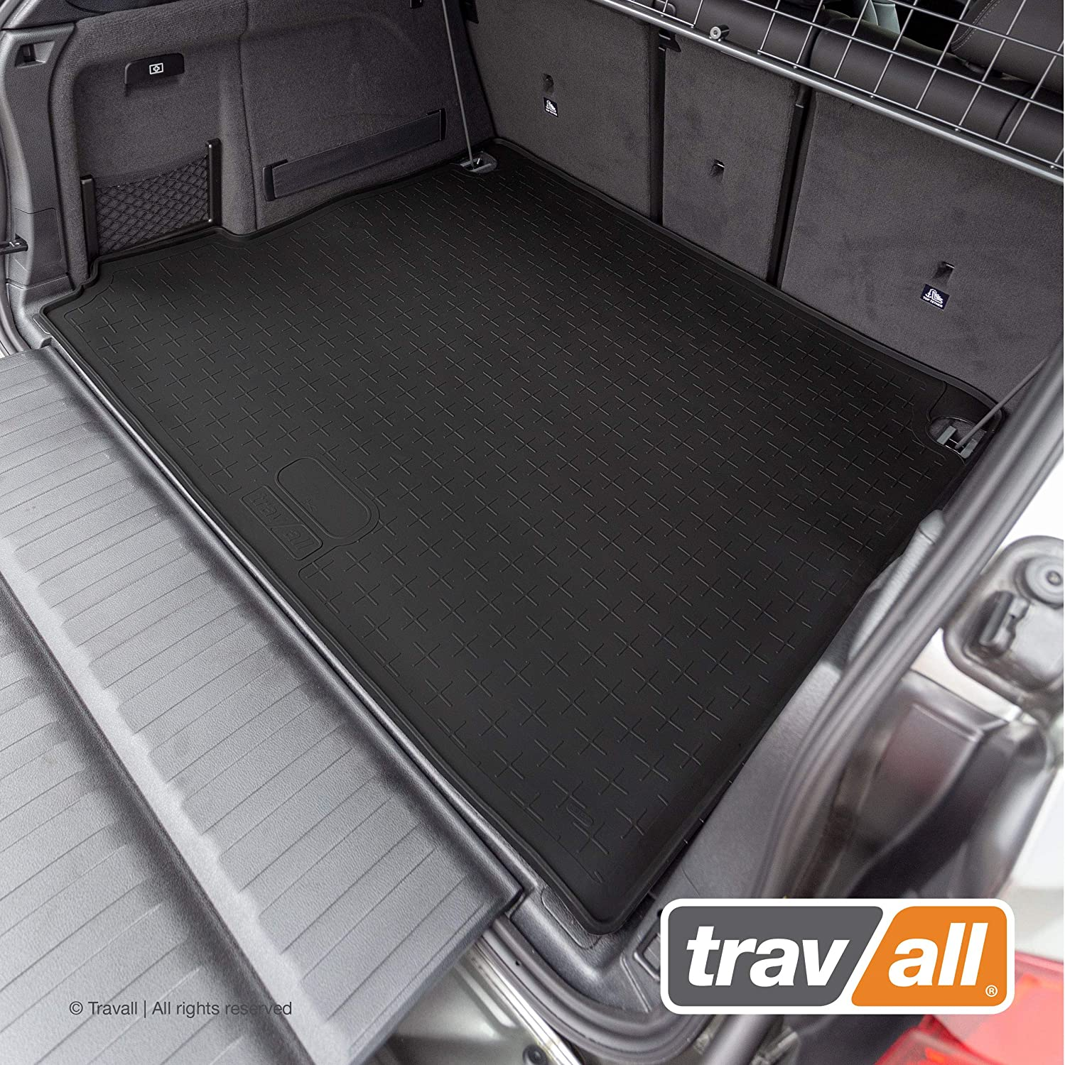 2006-2018 and BMW X5 M 2010-2018 Travall Liner Compatible with BMW X5 All-Weather Black Rubber Trunk Mat Liner TBM1049
