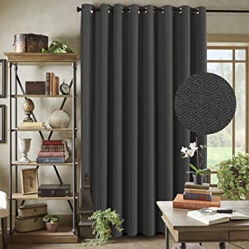 Amazoncom Grey Blackout Curtains 100 X 96 Inches For Patio