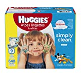 Amazon Price History for:HUGGIES Simply Clean Baby Wipes, Fresh Scent, Soft Pack , 648 Ct (Packaging May Vary)