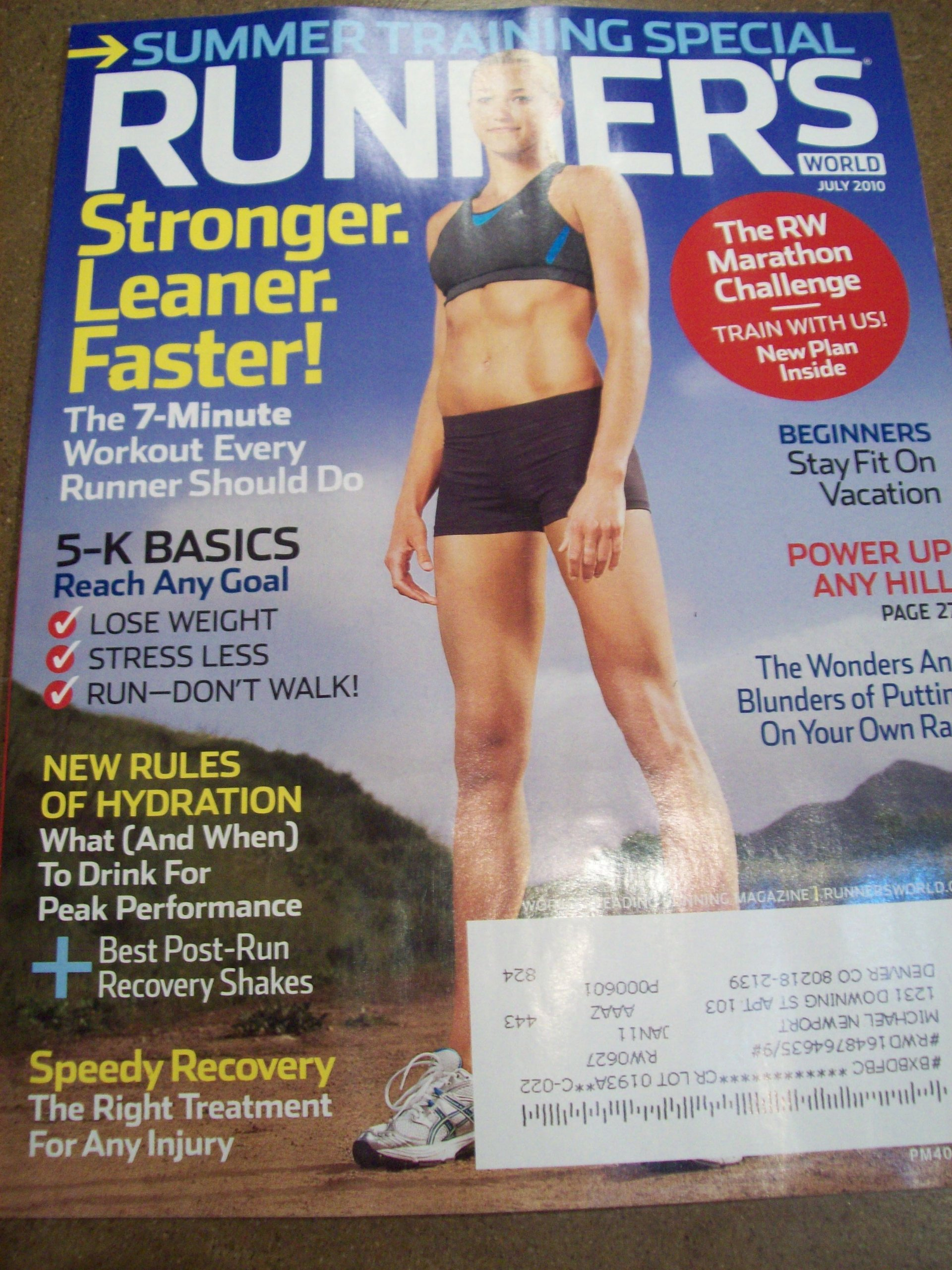 660ae8fcf4 Runner s World July 2010 Summer Training Special The 7-Minute Workout Every  Runner Should Do The RW Marathon Challenge 5-K Basics New Rules of  Hydration ...