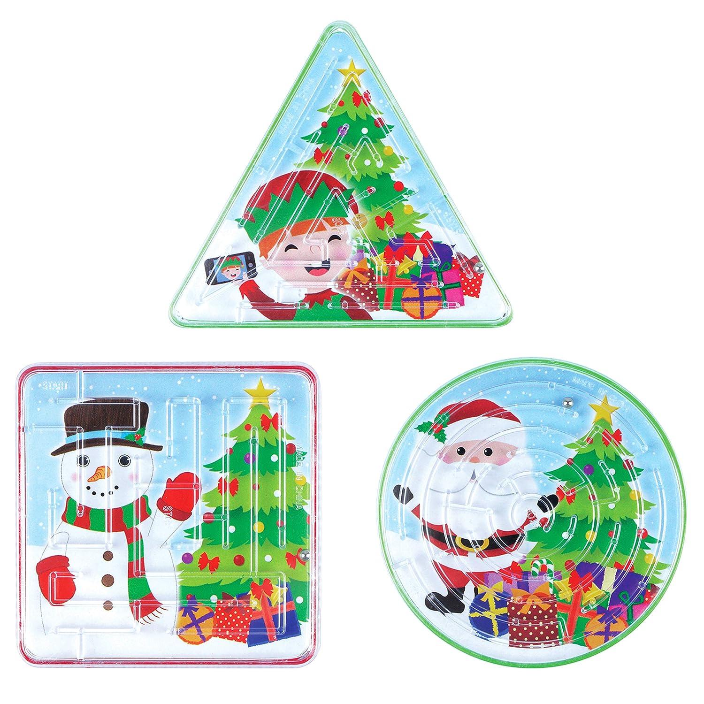 Christmas Mazes.12 X Christmas Maze Puzzle