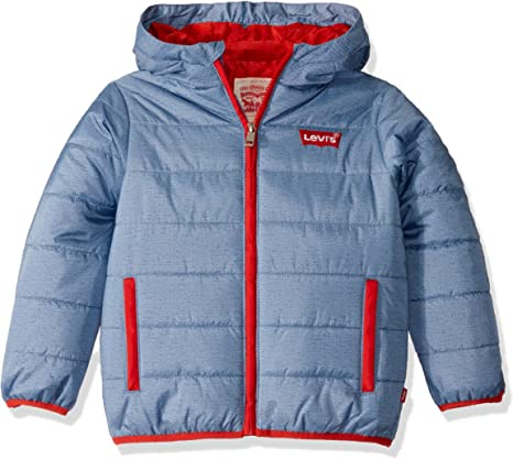 Levi's Big Boys' Puffer Jacket, Navy, L