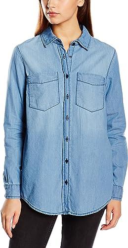 Pedro del Hierro Camisa Vaquera, Blues, 36 para Mujer ...