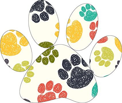 Amazoncom Cute Colorful Pawprint Drawing Art Pattern Icon
