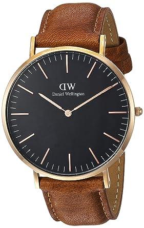 e290febf512f Amazon.com  Daniel Wellington Classic Black Durham 40mm  Watches