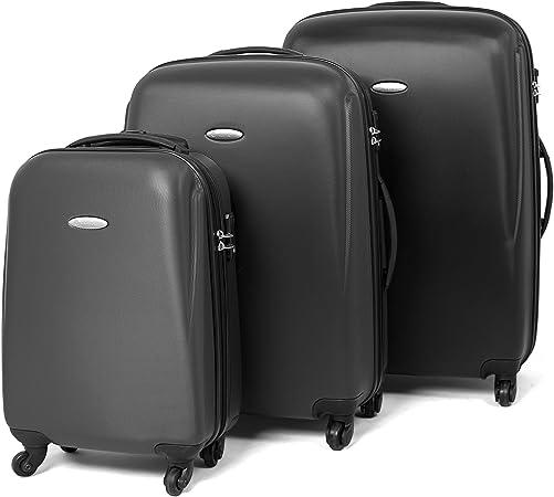 Mastergear ABS Voyage Valise TSA Serrure 68 L Coque rigide valise trolley Petrol