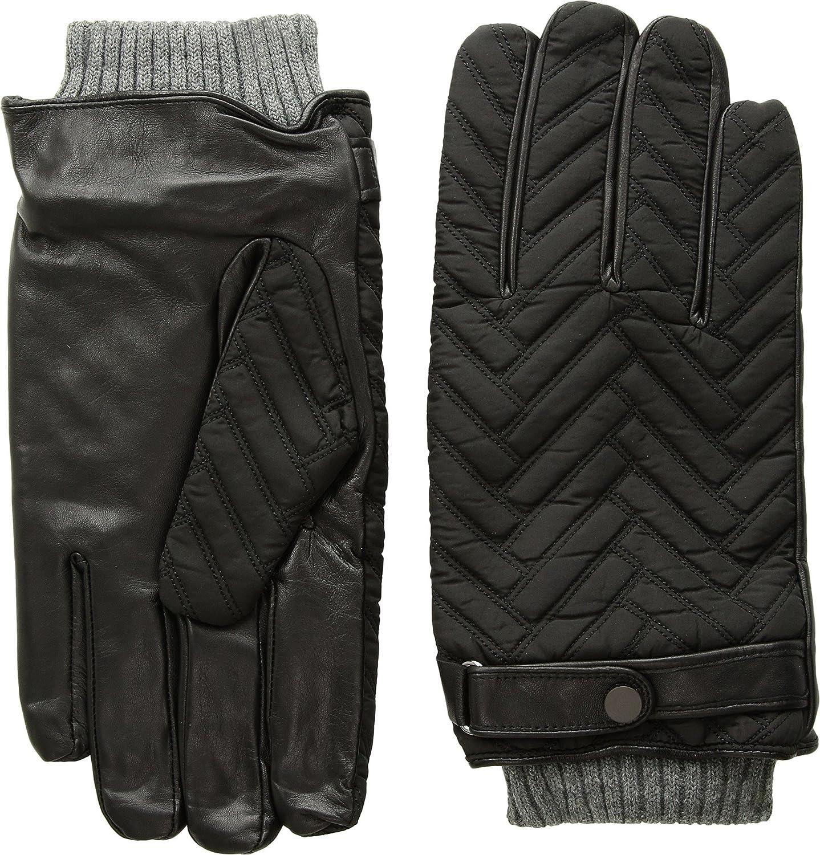 Ted Baker Men's Afro Quilted Gloves Black LG/XL