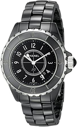 Amazon.com  CHANEL Women s J12 Ceramic   Stainless Steel Watch ... 25904ebd4789