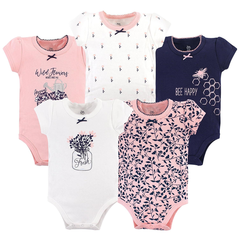 12013741cbf Amazon.com  Yoga Sprout Baby Cotton Bodysuits  Clothing
