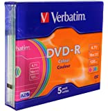Verbatim Vírgenes DVD-R Advanced AZO + 16x Speed Colour Surface 5 unidades Slim Case
