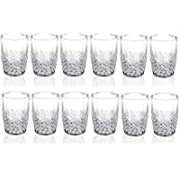 Set of 12 Acrylic Clear Plastic Tumbler Water Drinking Glasses Drink Tumblers