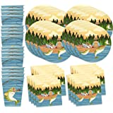 Gone Fishing Birthday Party Supplies Set Plates Napkins Cups Tableware Kit for 16 by Birthday Galore