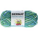 Bernat Handicrafter Cotton Yarn, Ombre, 1.5 Ounce, Emerald Energy, Single Ball