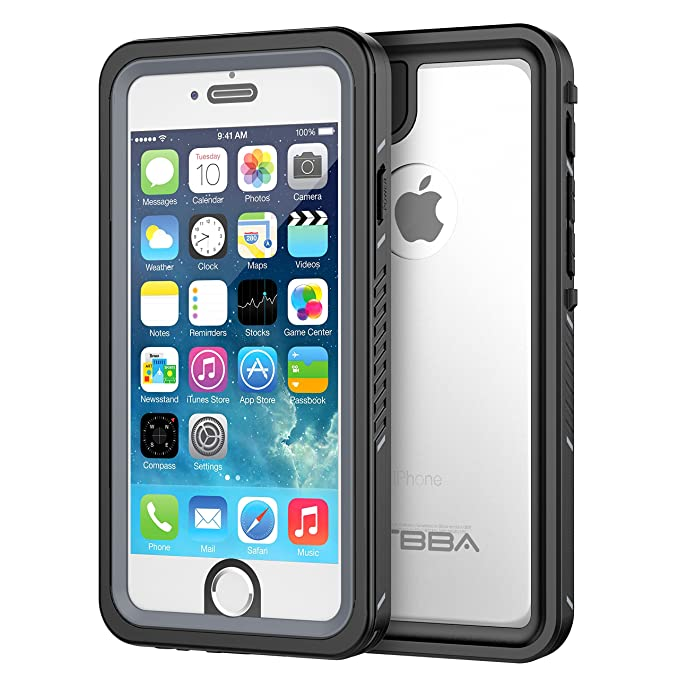huge discount c2349 1bc6c iPhone 6/6s Waterproof Case, OTBBA Sandproof IP68 Certified with Touch ID  Shockproof Snowproof Full Body Cover for iPhone 6/6s (Clear)
