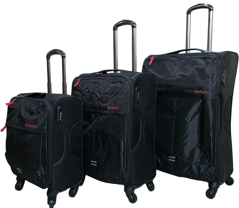 5a61fc4dd9ab Morano 3-Piece Luggage Travel Set Bag Trolley Suitcase (27