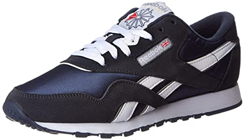 Reebok Classic Nylon - Zapatillas para Hombre, Color Team Navy Platinum, Talla EUR 44