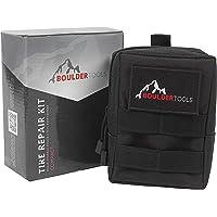 Boulder Tools - Kit de reparación de neumáticos compacto con bolsa de almacenamiento Molle. Kit de enchufe universal de…