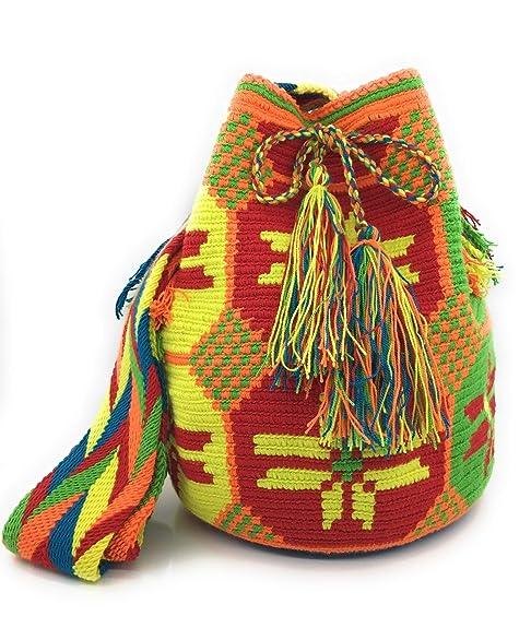 Wayuu Mochila, Bolsos Colombianos Artesanales con motivos tribales, tanto para mujer como para hombre.: Amazon.es: Zapatos y complementos