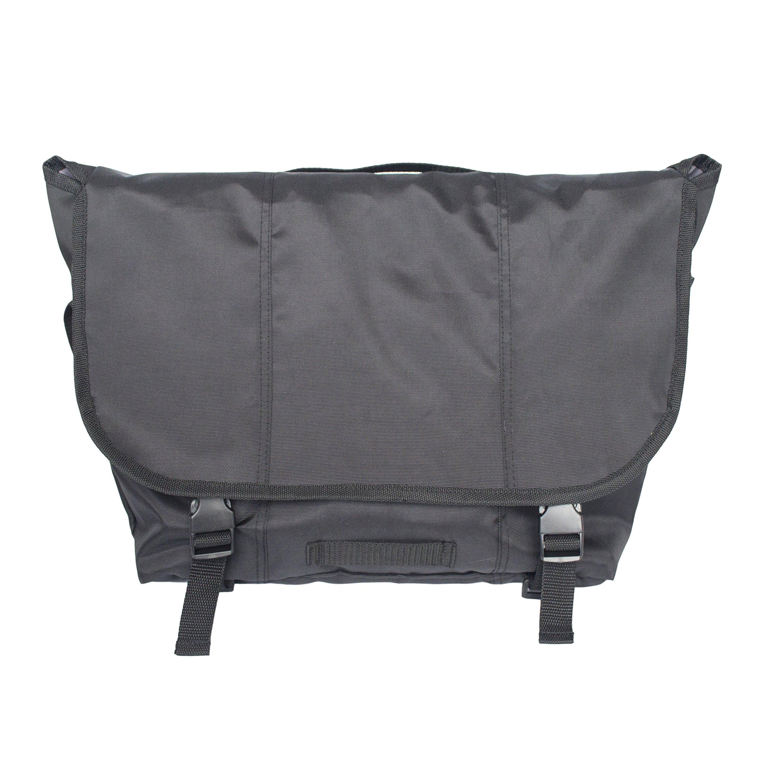 Classic Messenger Bag for Men Women,Travel Shoulder Crossbody Sling Working Laptop Bag (Black, 7''x18''x12'')