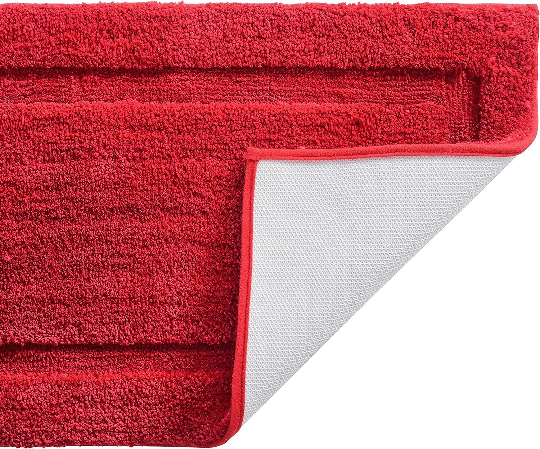 TOMORO Microfiber Non-Slip Bathroom Rug – Extra Absorbent and Quick Dry, Soft Luxury Hotel Door Carpet Shower Bath Mat Waterproof Non-Skid Backing
