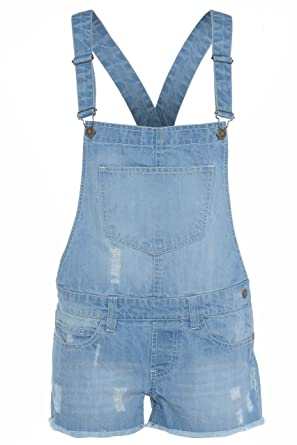 limited quantity clear and distinctive purchase newest Girls Dungaree 100% Cotton Kids Jeans Denim Shorts Dress Jumpsuits 13-14  Years