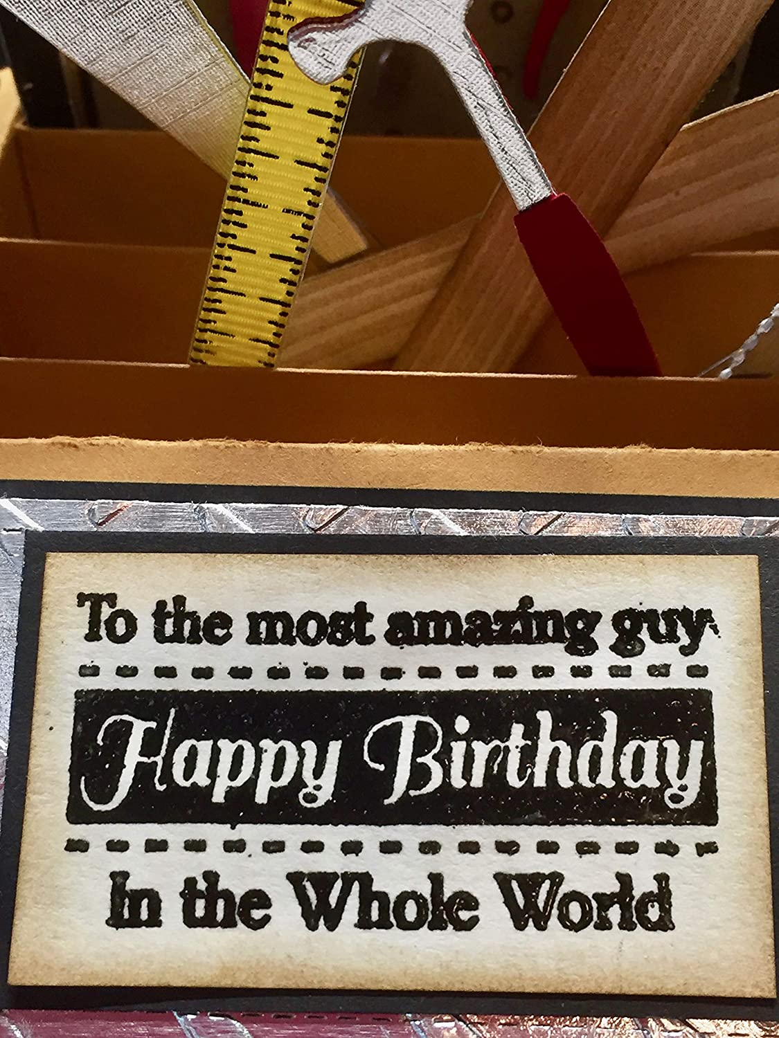 BIRTHDAY Under construction TOOLS By Dee MASCULINE POP-UP BOX CARD