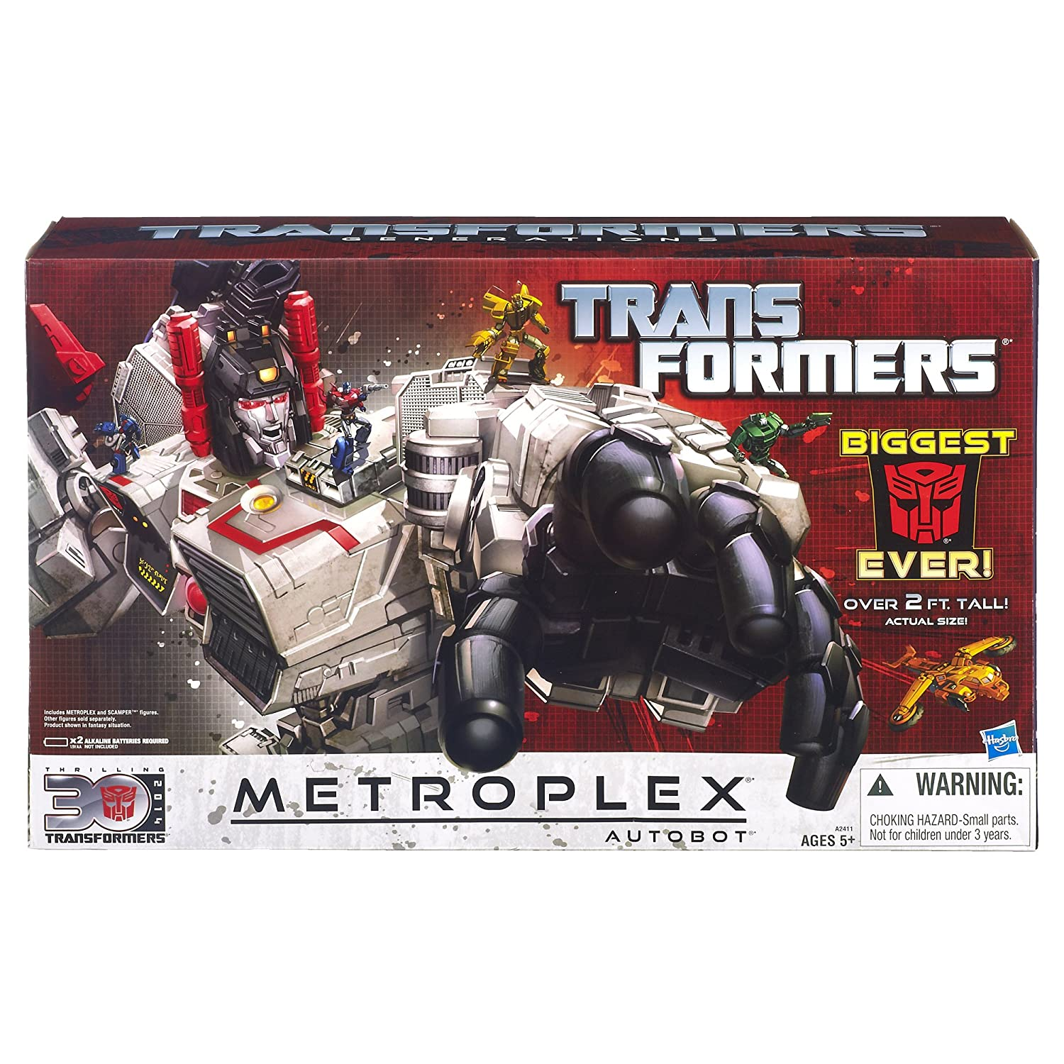 amazon com transformers generations titan class metroplex with