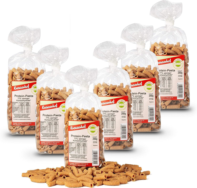 Kreuzerhof - Pasta de proteína para raigatón, pasta vegana en paquete de 6 unidades – pasta de proteínas (6 x 250 g)