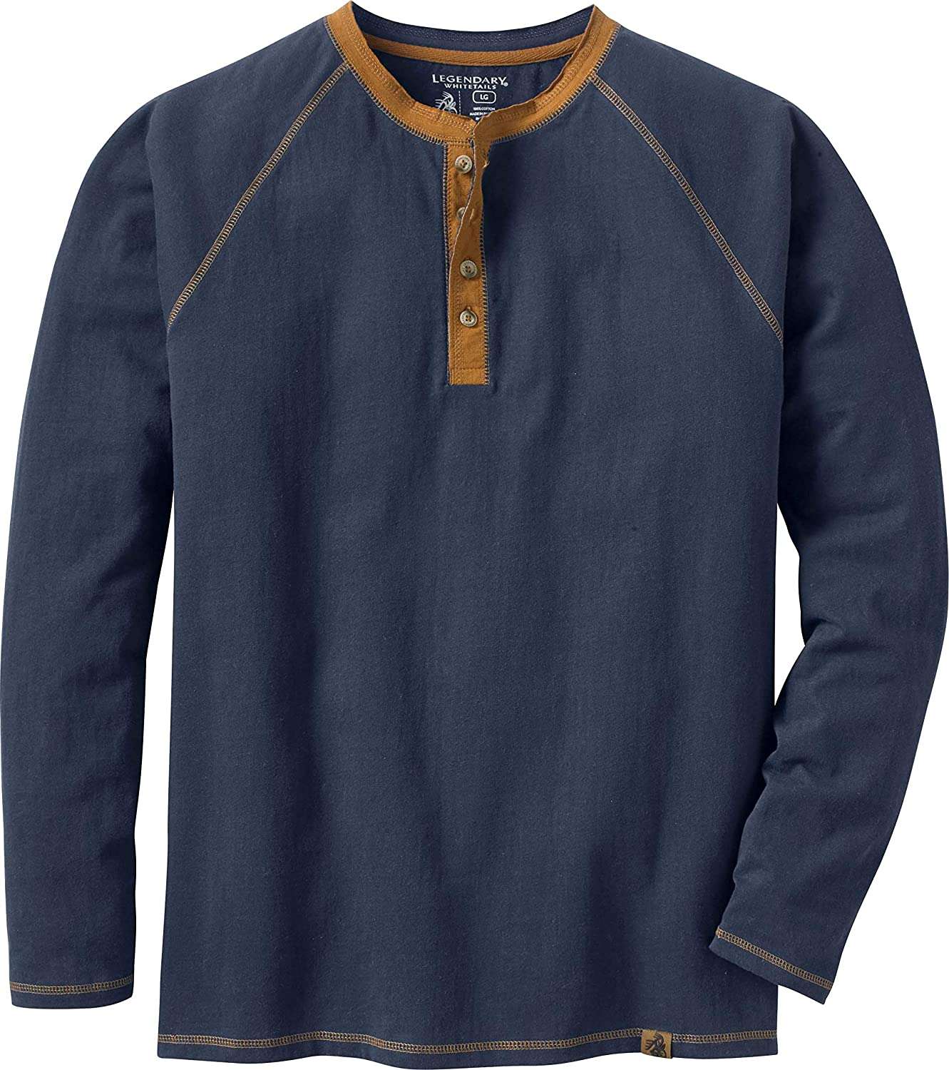 Legendary Whitetails Men's Recluse Henley Long Sleeve Shirt: Clothing