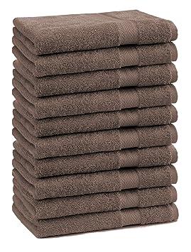 BETZ 10 Toallas de tocador Premium tamaño 30x50cm 100% algodón Color marrón: Amazon.es: Hogar