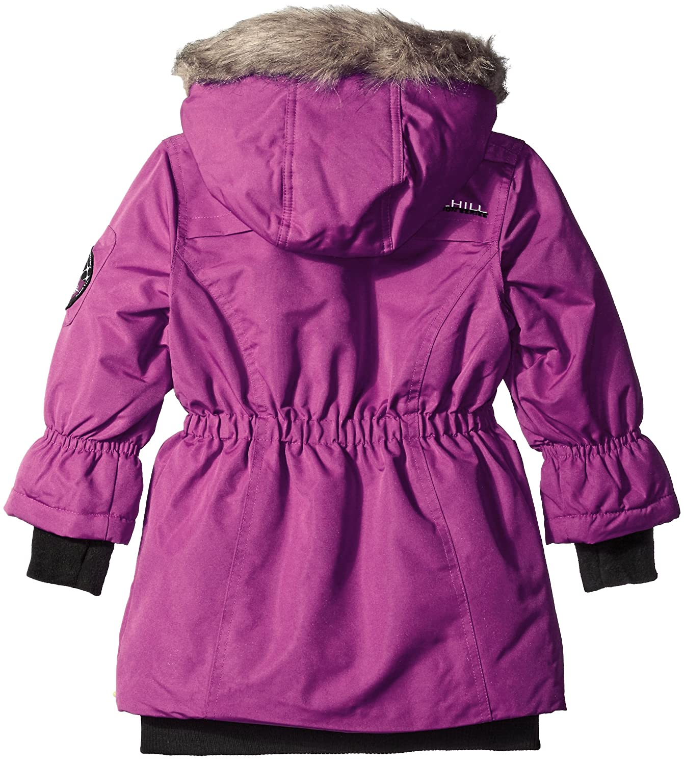 Big Chill Little Girls Long Expedition Jacket Glacier Pink