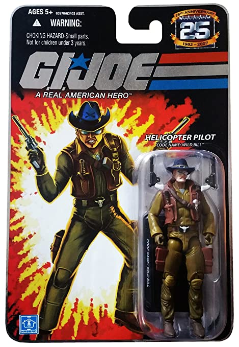 Amazon GI Joe 25th Anniversary Wild Bill Helicopter Pilot 3 4 Inch Action Figure Toys Games