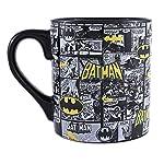 Silver Buffalo BK1034 DC Comics Taza de cerámica con tira de cómic de Batman, 20 onzas