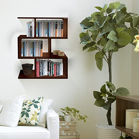 Klaxon Omega Decor Wooden Wall Shelvesbook Shelf And Storage Wall Shelves Walnutmatte Finish Do It Yourself Diy