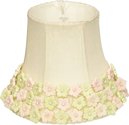 Jubilee Collection 2253 Flower Border Chandelier Shade, Pink Green