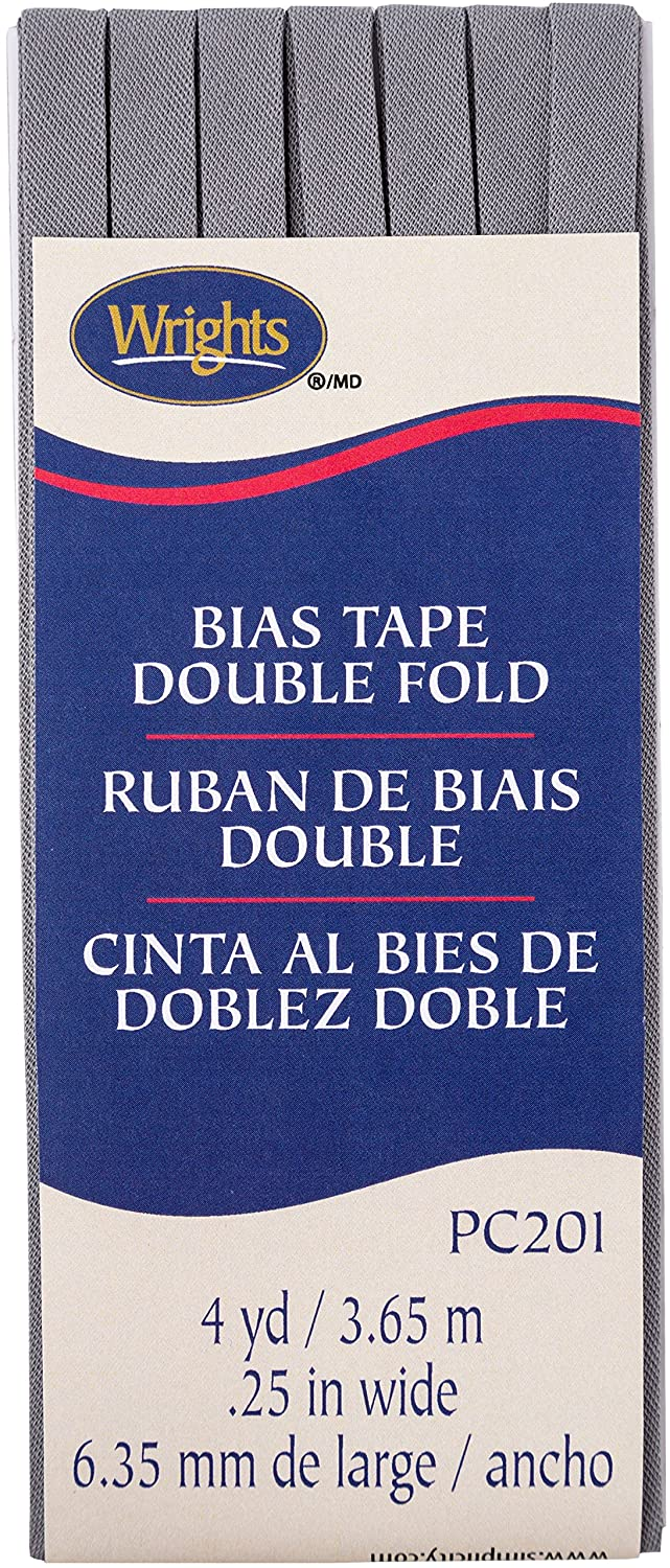 Wright Products Wrights Light Grey Double Fold Bias Tape 1/4 X 4yd 117201045