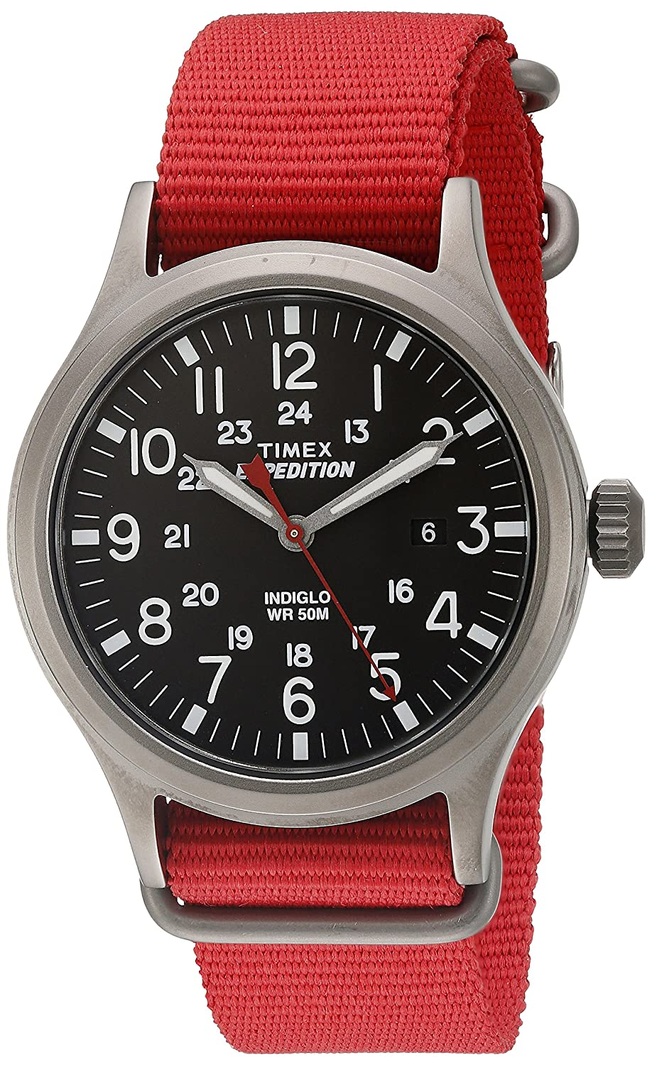 Timex メンズ Expedition Scout 40 腕時計 Mens Standard レッド B0194LW1DO レッド レッド