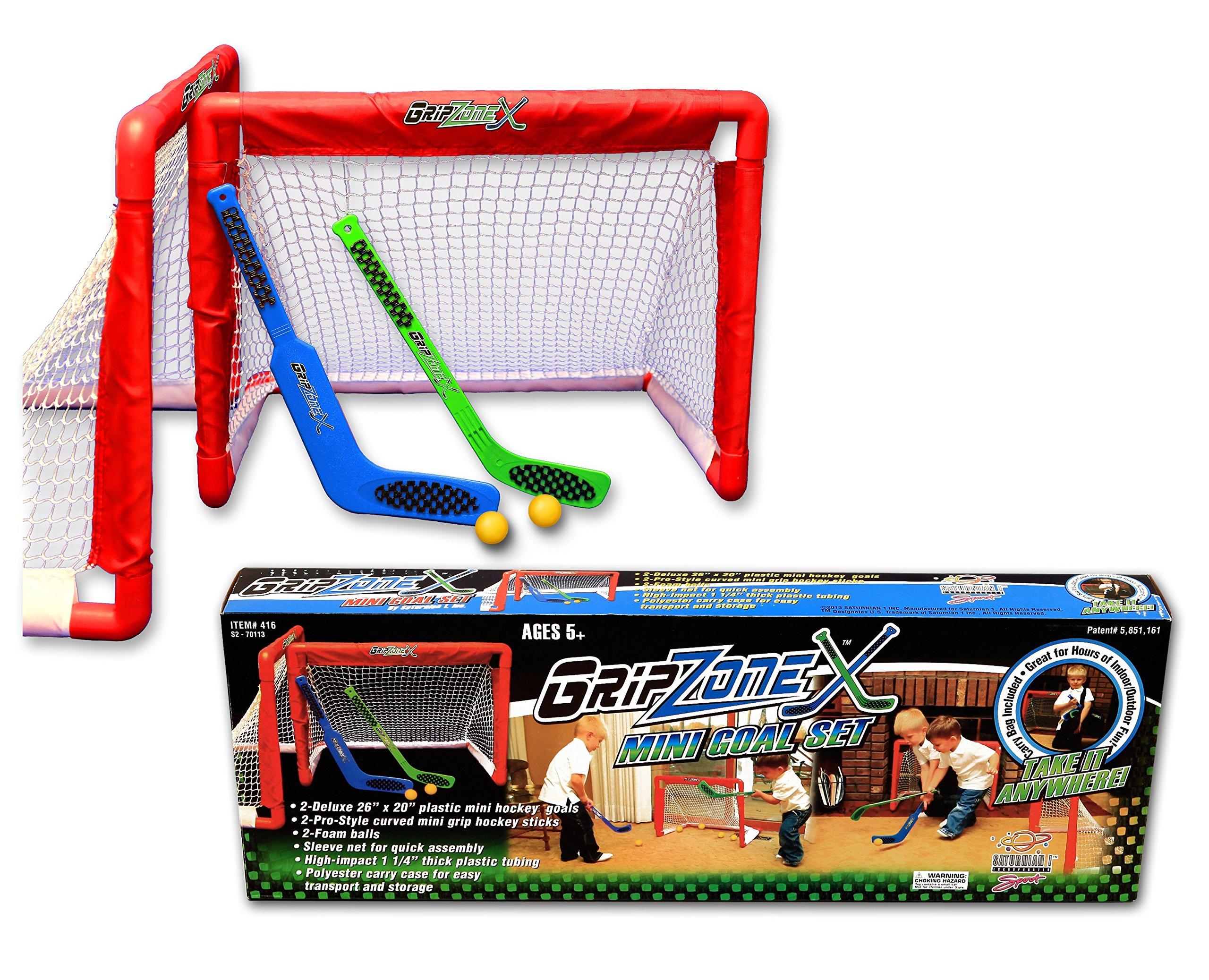 Fun Gripper Grip Zone Mini Hockey Goal Set 2-Nets and 2-sticks By: Saturnian I