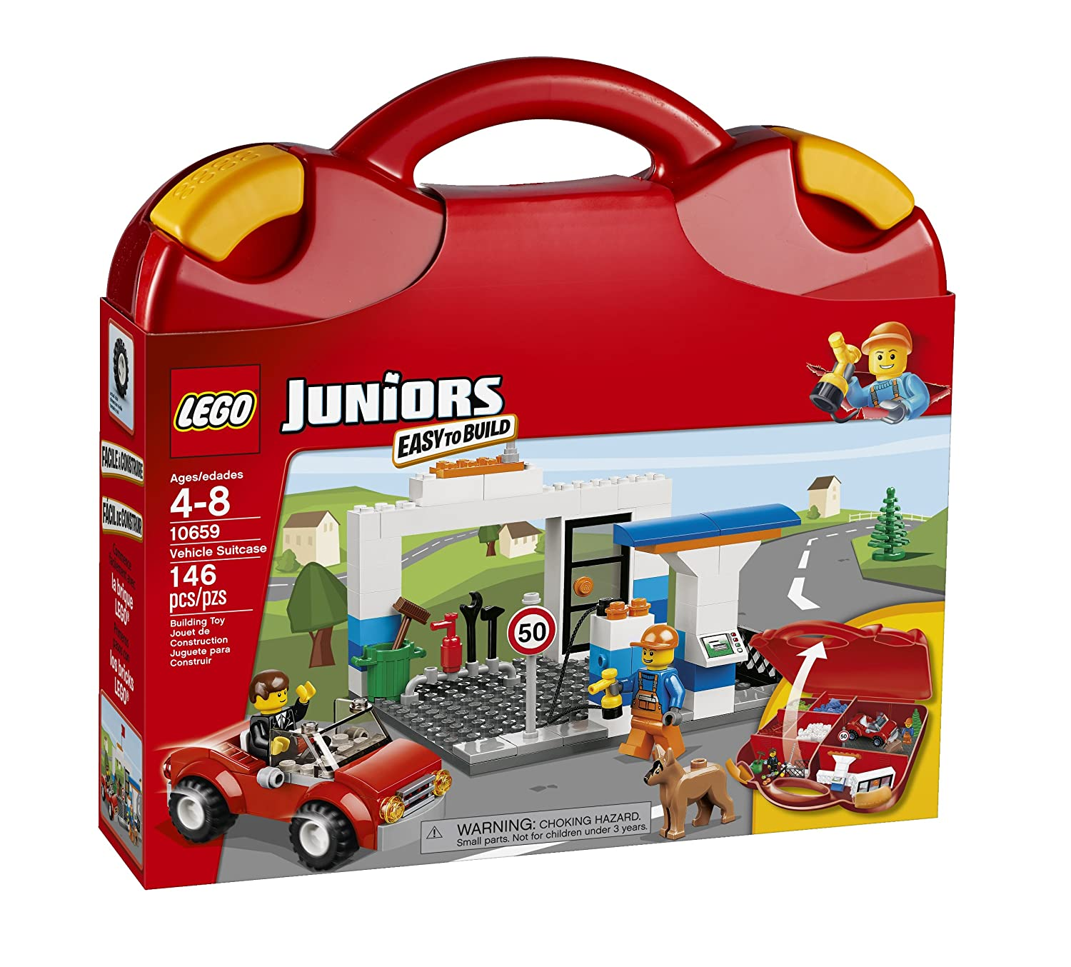 Amazon LEGO Juniors Vehicle Suitcase Toys & Games