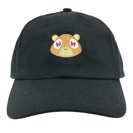 3ee72689fc112 Generic Kanye West Bear Hat Dad Hat Strap Back Costume Head Men Women New  (Black