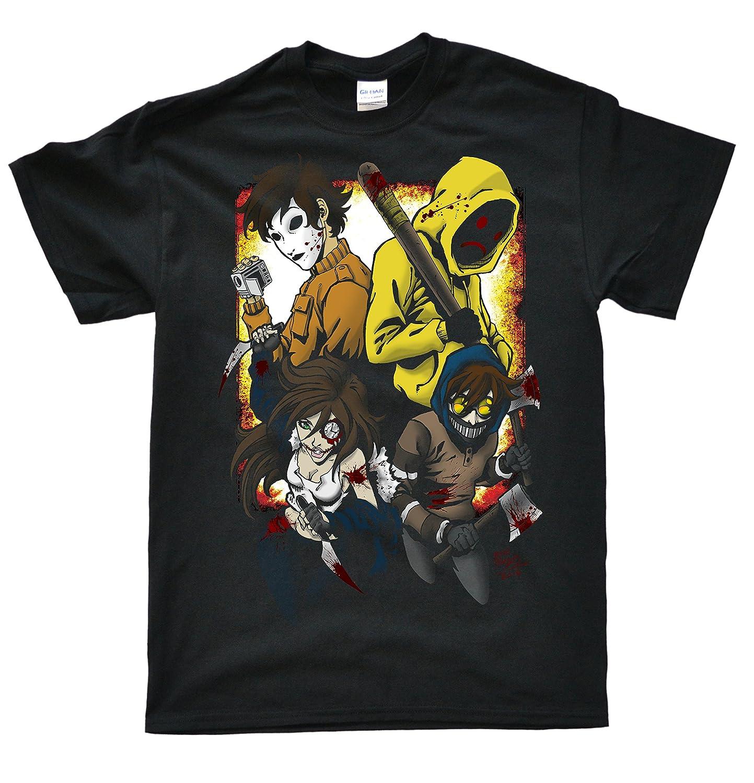 Stooble Men's Creepypasta Family V2 T-Shirt Stooble - 1ClickPrint