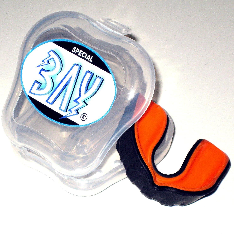 BAY® PRO LINE CE - MMA - ZAHNSCHUTZ ---- schwarz mit belüfteter BOX, Sport Mundschutz, Zahnschützer, Mundschützer Zahnschützer Mundschützer 4260264058230