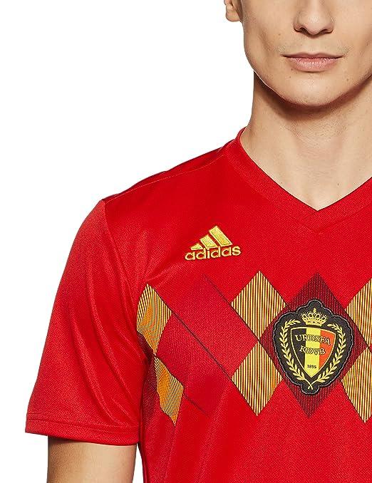 6399b3b992494d Amazon   (アディダス)adidas サッカー ベルギー代表 ホームレプリカユニフォーム半袖 DSI38 [メンズ]   サッカー・フットサル  レプリカユニフォーム 通販