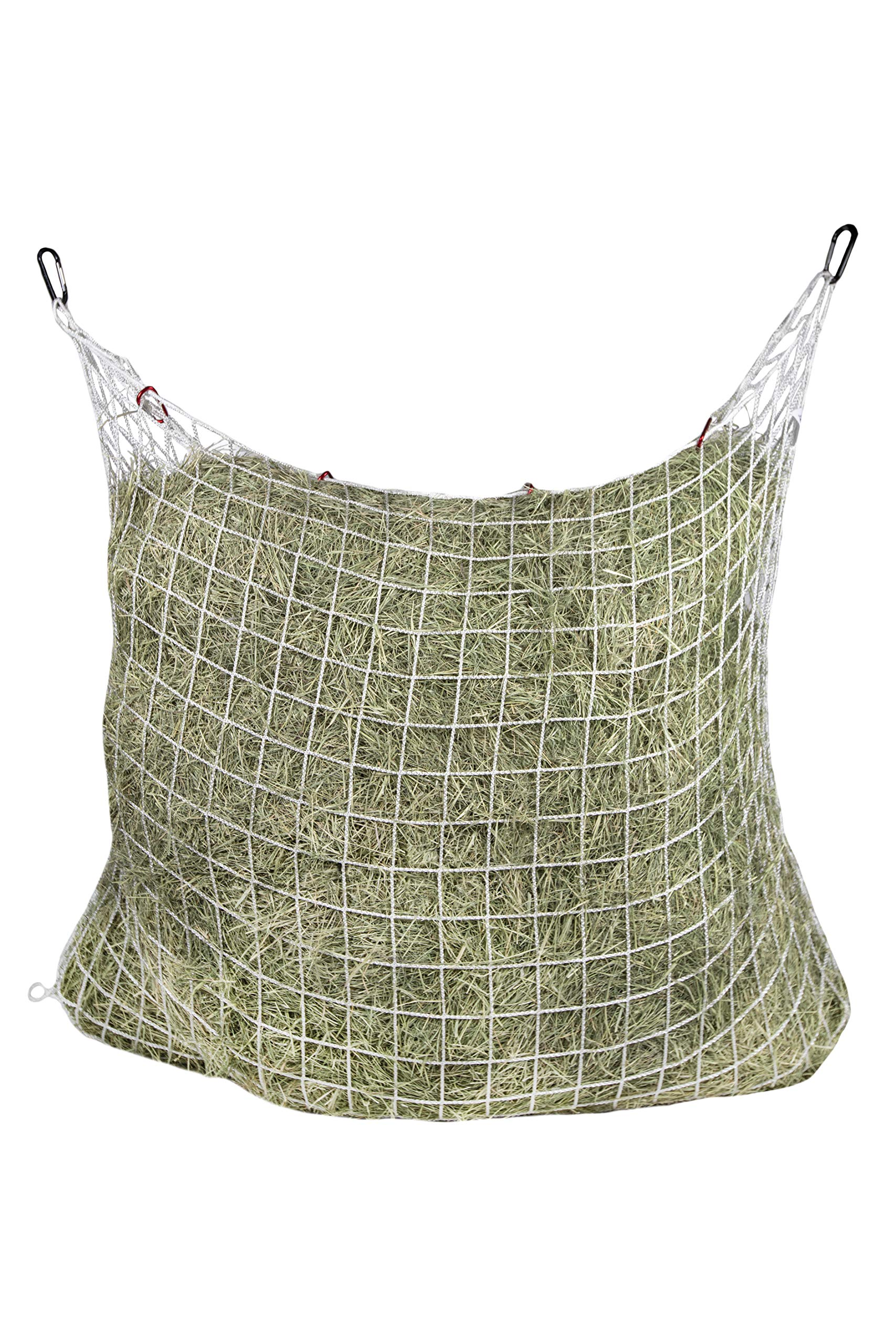 Freedom Feeder Mesh Net Two Day Slow Horse Feeder - Designed to Hold 50 lbs/6 Flakes/2 String Bale of Hay and Feed Horse for Two Days - Reduces Horse Feeding Anxiety and Behavioral Issues