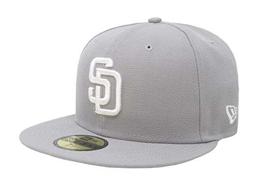 brand new af2f1 39581 New Era 59Fifty Hat San Diego Padres MLB Basic Gray Fitted Cap 11591111 (7)