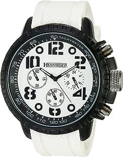 Hennessey Time Mens MR4014 Analog Display Analog Quartz White Watch
