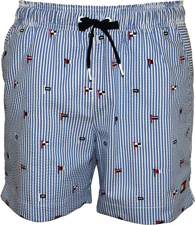 Navy Blazer Tommy Hilfiger Flag Longline Swim Shorts