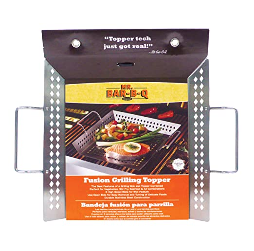 Amazon.com : Mr.BarBQ 06746X Fusión Topper con mango de alambre, acero inoxidable : Garden & Outdoor